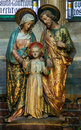 Statues of Mother Mary, Child Jesus and Joseph Royalty Free Stock Photo
