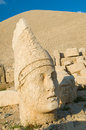Statues on nemrut mountain ancient the top of turkey Stock Photo