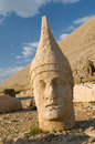 Statues on nemrut mountain ancient the top of turkey Royalty Free Stock Images