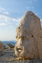 Statues on nemrut mountain ancient the top of turkey Royalty Free Stock Photo