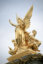 Statues palais garnier of at th arrondissement paris france Stock Photography