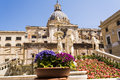 Statues in Piazza Pretoria, Square of Shame at Palermo, Sicily Royalty Free Stock Photo