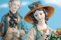Statues of porcelain capodimonte Stock Photos