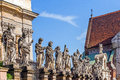 Statues of the saints in front church peter and paul built in baroque style in krakow poland Stock Photo