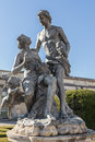 Statues of vintage rococo era in the park queluz sintra men and women Stock Photography