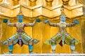 Statues in Wat Phra Kaeo, Bangkok