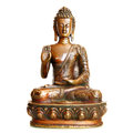 Statuette of blessing buddha isolated over the white background Stock Images