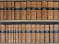 Statute books rows of legal on shelves Stock Image
