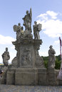 Statute in Kutna hora on the way to St.Barbaras church Royalty Free Stock Photo