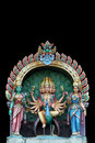 Statuy hinduska świątynia Obraz Royalty Free
