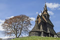 Stave Church Hopperstad Royalty Free Stock Photo