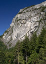 Stawamus chief a rock mountain near squamish bc is famous as a rock climbing site Royalty Free Stock Images