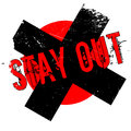 Stay Out rubber stamp Royalty Free Stock Photo