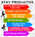 Stay productive tips and advice in order to Royalty Free Stock Photo