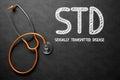 STD Handwritten on Chalkboard. 3D Illustration. Royalty Free Stock Photo