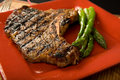 Steak and asparagus Royalty Free Stock Photo