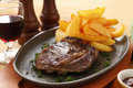 Steak And Chips Royalty Free Stock Image