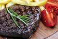 Steak and chips Royalty Free Stock Photo