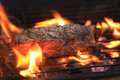 Steak on flame Grill Royalty Free Stock Photo