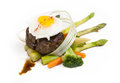 Steak with eggs Royalty Free Stock Photos