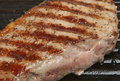Steak in Griddle Pan Stock Photos
