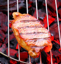 Steak on Grill Stock Images