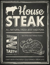 Steak house poster Royalty Free Stock Photo