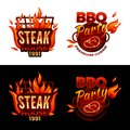 Steak house barbecue meat vector illustration