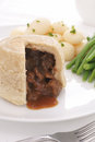 Steak and Kidney Pudding Royalty Free Stock Photo