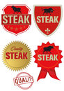 Steak Label Royalty Free Stock Image