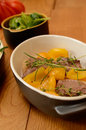 Steak of lamb with herbs and paprika Stock Photos