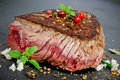 Steak medium rare grilled close up Royalty Free Stock Photo