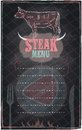 Steak menu chalkboard design eps Stock Photography