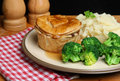 Steak Pie Meal Stock Photo