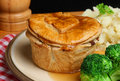 Steak Pie Meal Stock Images