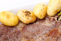 Steak And Potatoes Stock Photo