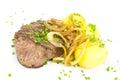 Steak potatos Lizenzfreie Stockfotos