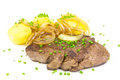 Steak potatos Lizenzfreies Stockbild