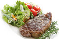 Steak and Salad Royalty Free Stock Photography