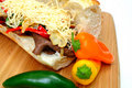 Steak And Sweet Pepper Sandwich Royalty Free Stock Photos