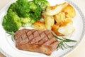 Steakabendessen Lizenzfreie Stockfotos
