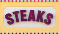 Steaks Sign Stock Photography