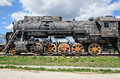 Steam engine locomotive cl l originally o produced in units by kolomna togliatti russia july displayed at the avtovaz technical Stock Images