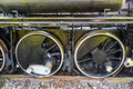 Steam engine main wheels Royalty Free Stock Photo