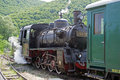 Steam engine powered train Royalty Free Stock Photo