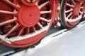 Steam engine wheels Royalty Free Stock Photo