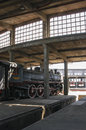 Steam engines old in the railway industry in temuco chile Stock Photo