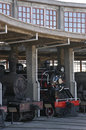 Steam engines old in the railway industry in temuco chile Stock Image