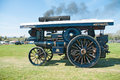 Steam enginges vintage traction engine at county fair Royalty Free Stock Images