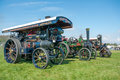 Steam enginges vintage traction engine at county fair Royalty Free Stock Image